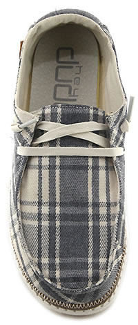 WENDY PLAID GREY - Dude